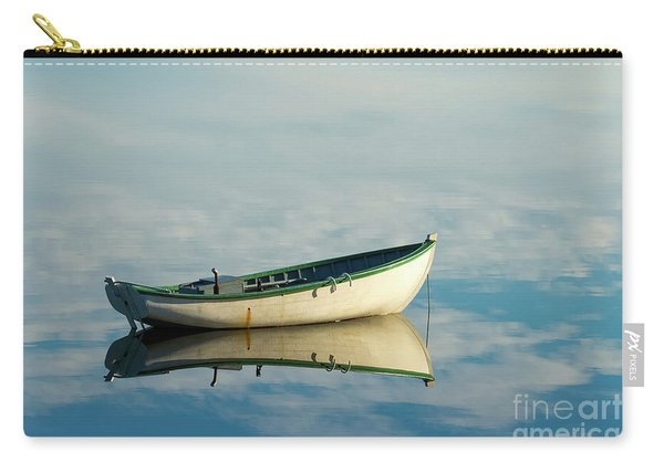 White Boat Reflected Carry-all Pouch