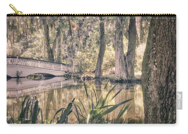 Carry-all Pouch featuring the photograph White Bridge by Michael Colgate