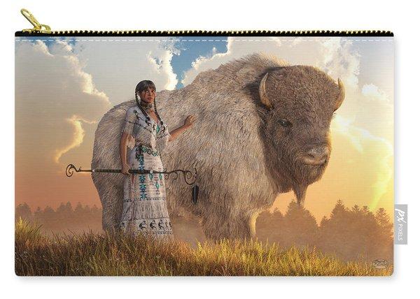 White Buffalo Calf Woman Carry-all Pouch