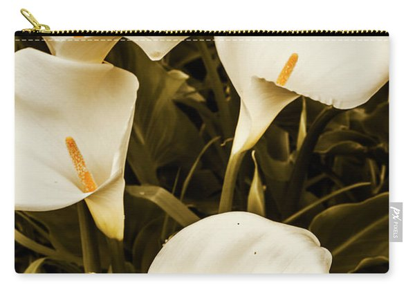 White Calla Lilies Carry-all Pouch