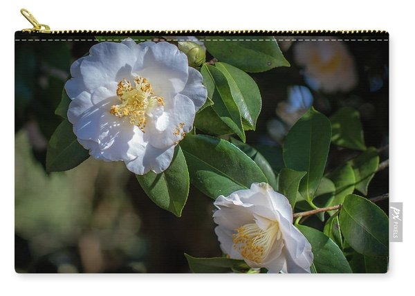 White Camelia 02 Carry-all Pouch