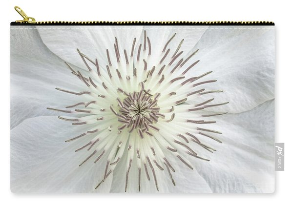 White Clematis Flower Garden 50121b Carry-all Pouch