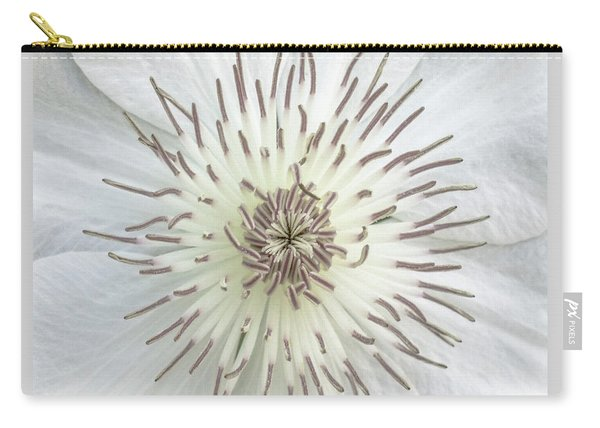 White Clematis Flower Macro 50121c Carry-all Pouch