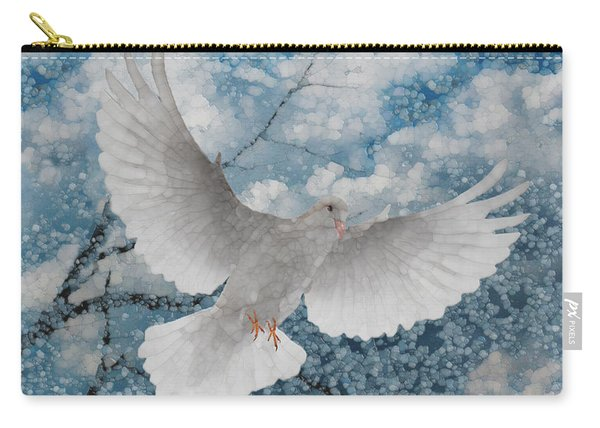 White Dove-flight Series Carry-all Pouch