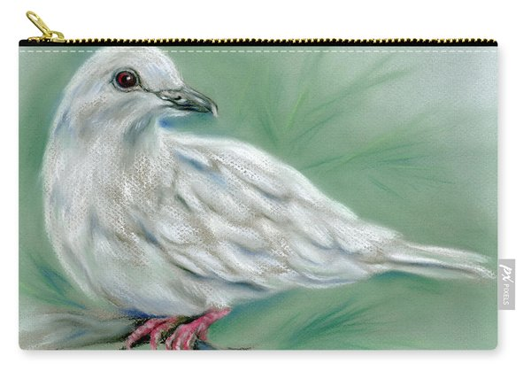 White Dove In The Pine Carry-all Pouch
