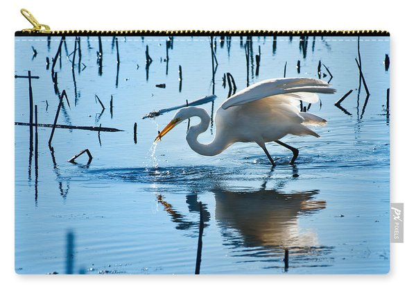 White Egret At Horicon Marsh Wisconsin Carry-all Pouch