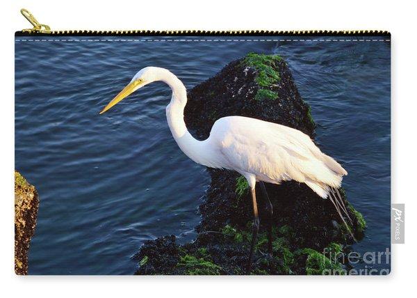 White Egret At Sunrise - Barnegat Bay Nj  Carry-all Pouch