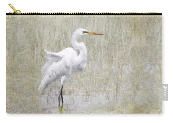 White Egret Rectangle Carry-all Pouch