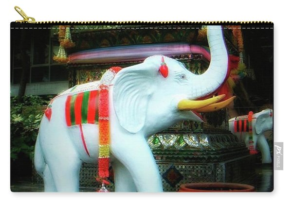 Carry-all Pouch featuring the photograph White Elephant. Meaning A Big Expensive by Mr Photojimsf