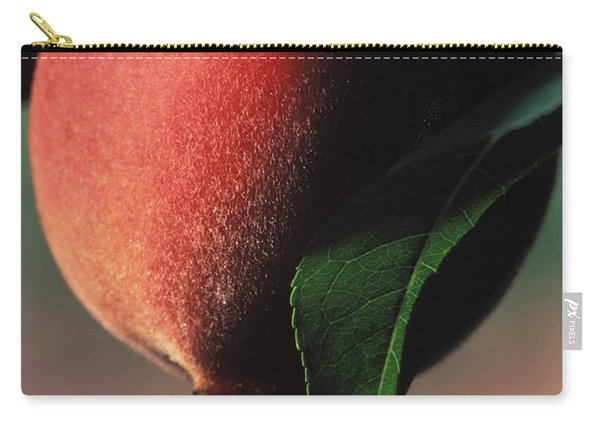 White Encore Peach Carry-all Pouch