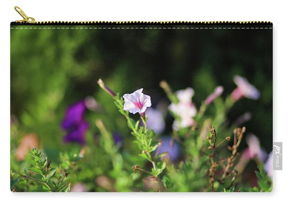 Carry-all Pouch featuring the photograph White Flower by Raphael Lopez