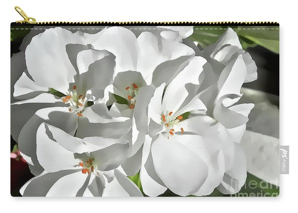 White Geraniums Carry-all Pouch