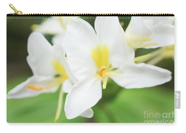 White Ginger Blossom Carry-all Pouch