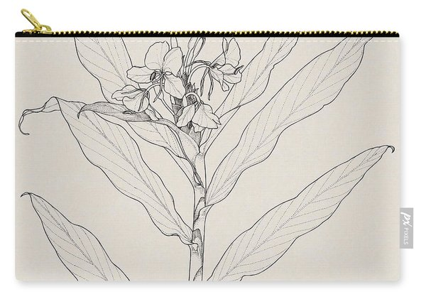 White Ginger Carry-all Pouch