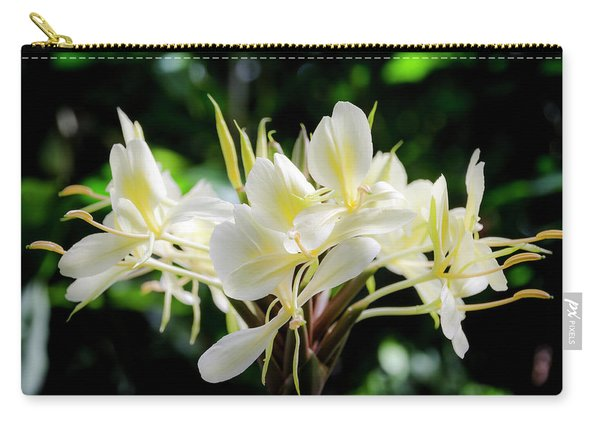 White Hawaiian Flowers Carry-all Pouch