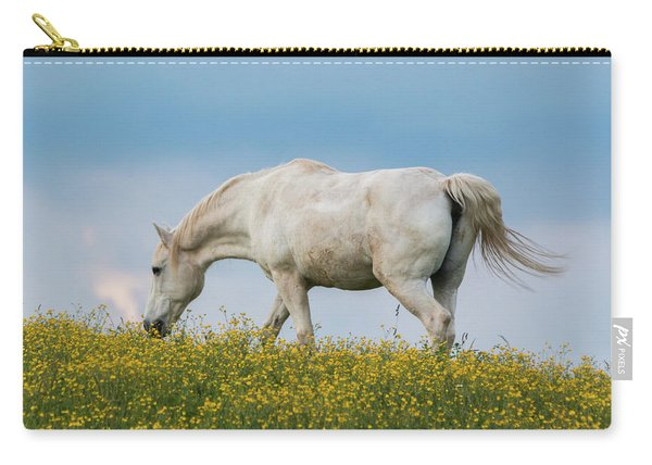 White Horse Of Cataloochee Ranch 2 - May 30 2017 Carry-all Pouch