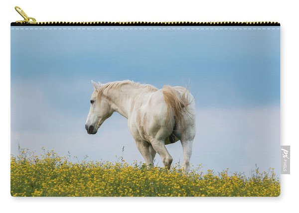 White Horse Of Cataloochee Ranch - May 30 2017 Carry-all Pouch