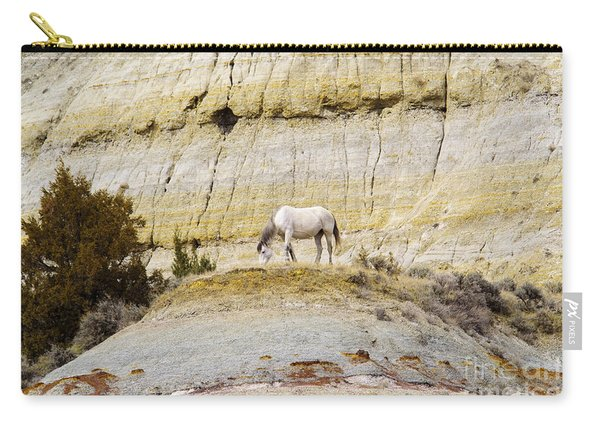 White Horse On A Mound Carry-all Pouch
