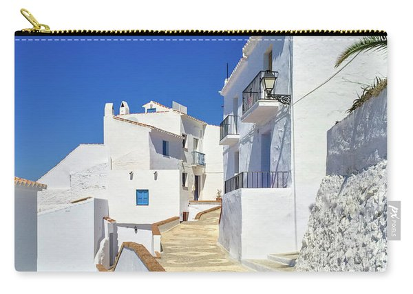 White Houses And Blue Sky Of Andalusia Carry-all Pouch