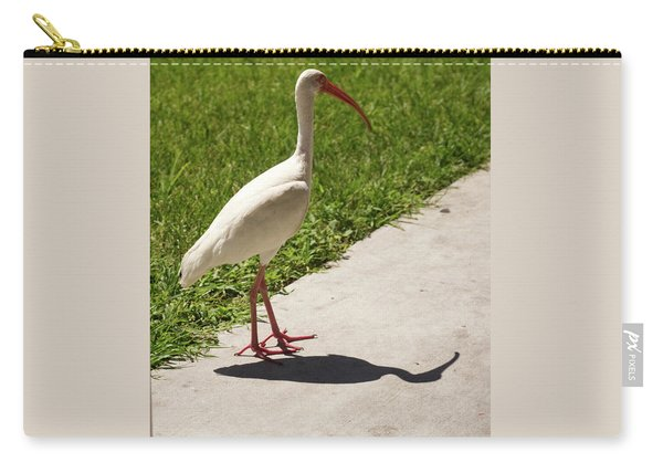 White Ibis Walking Down The Street Carry-all Pouch