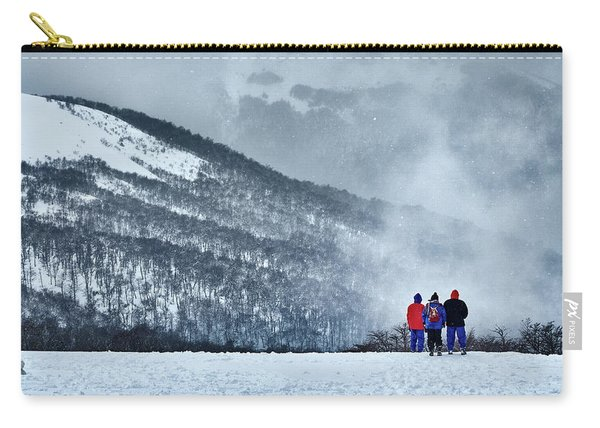 White Landscape In The Frozen Paradise In The Argentine Patagonia Carry-all Pouch
