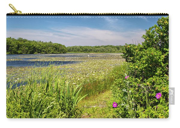 White Lily Pond  Carry-all Pouch