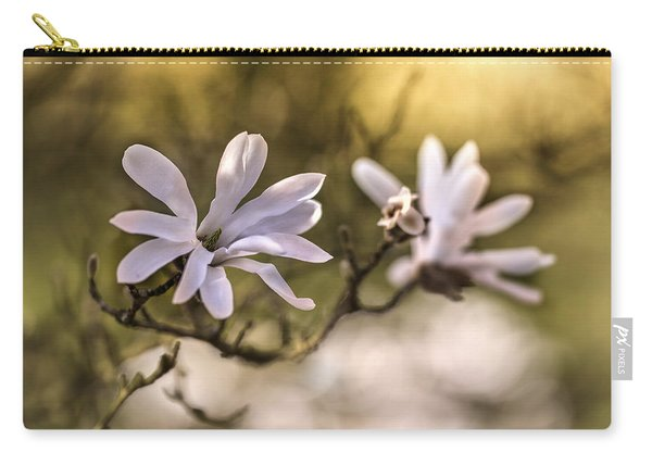 Carry-all Pouch featuring the photograph White Magnolia by Jaroslaw Blaminsky