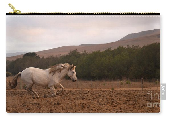 White Mare Gallops #1 - Panoramic Brighter Carry-all Pouch