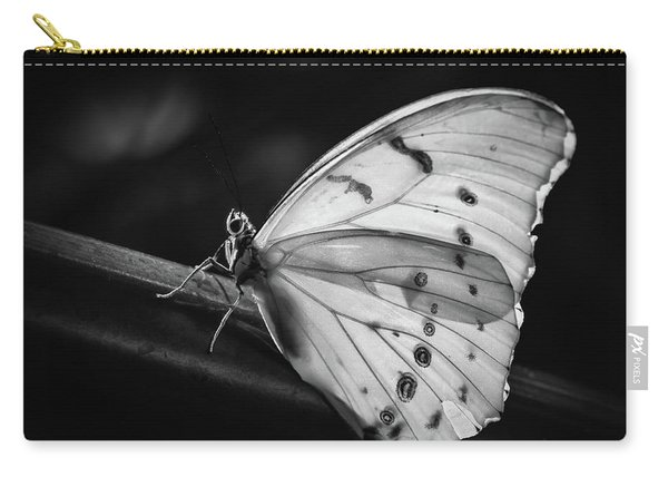 White Morpho Black And White Carry-all Pouch