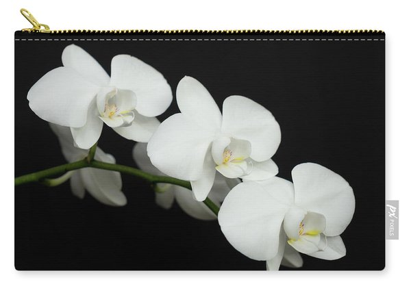 White On Black Carry-all Pouch