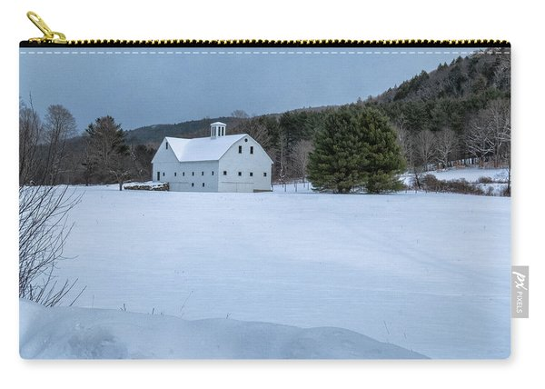 Carry-all Pouch featuring the photograph White On White by Tom Singleton