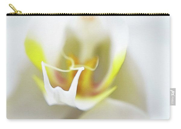 White Orchid Art By Sharon Cummings Carry-all Pouch
