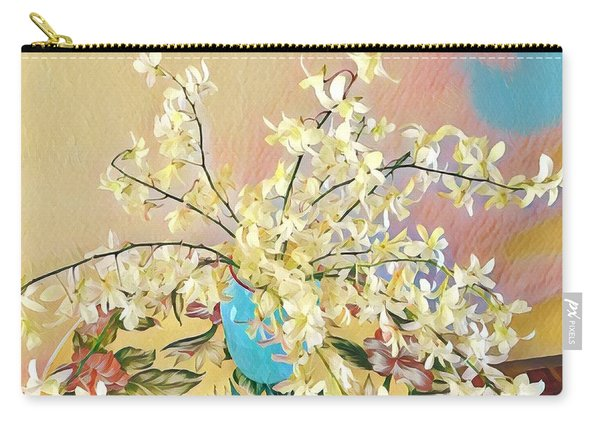 White Orchid Bouquet Pink/blue Carry-all Pouch