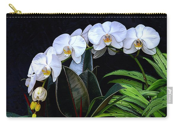 White Orchids Carry-all Pouch