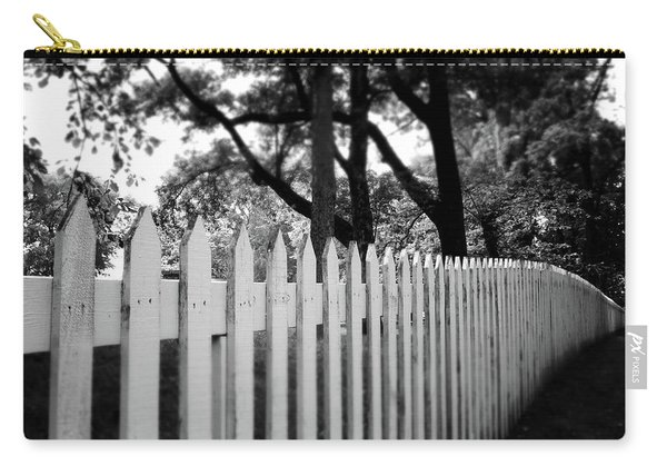White Picket Fence- By Linda Woods Carry-all Pouch