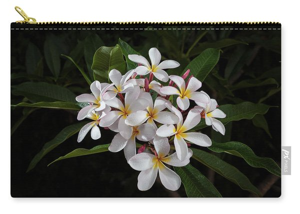 White Plumerias In Bloom Carry-all Pouch