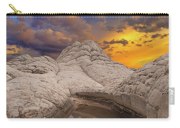 White Pocket Sunset Carry-all Pouch