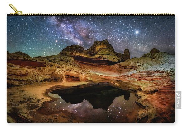 White Pockets Milky Way Carry-all Pouch