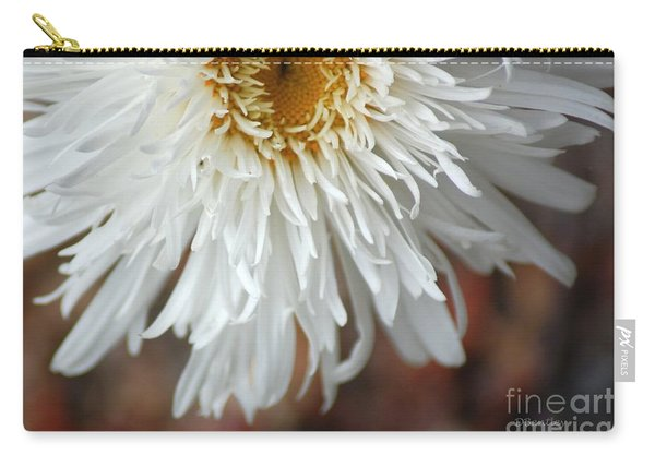 White Pure Flower Carry-all Pouch