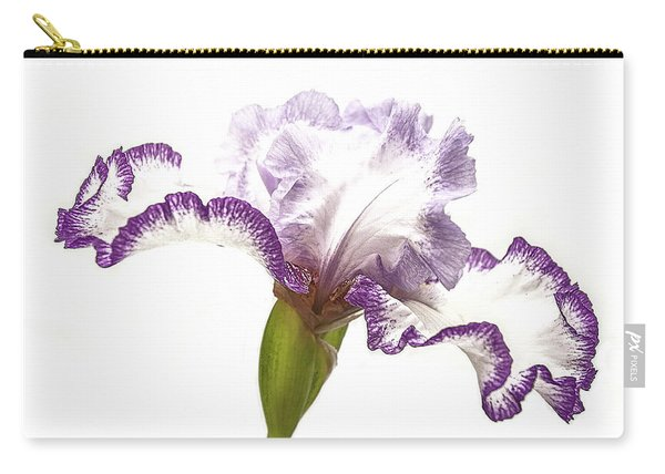 White Purple Iris Carry-all Pouch