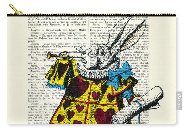 White Rabbit Blows His Trumpet Three Times Alice In Wondreland Carry-all Pouch