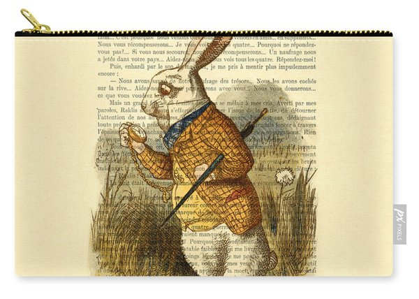 White Rabbit, I Am Late, I Am Late, For A Very Important Date Carry-all Pouch