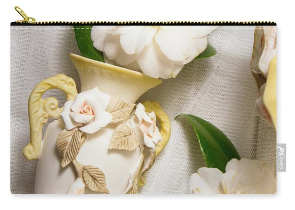 White Rhododendron Funeral Flowers Carry-all Pouch
