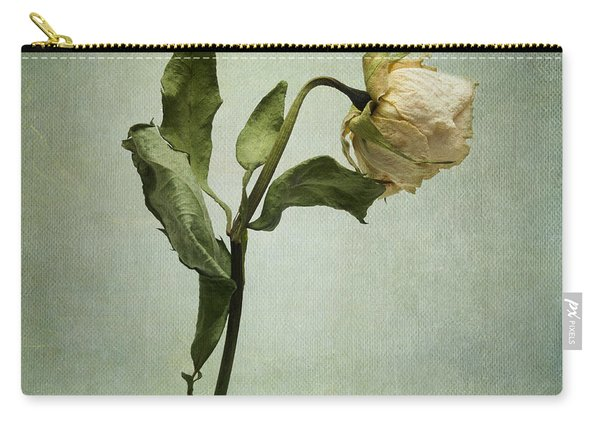 White Rose Desiccated Carry-all Pouch