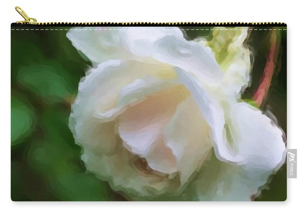 White Rose In Paint Carry-all Pouch