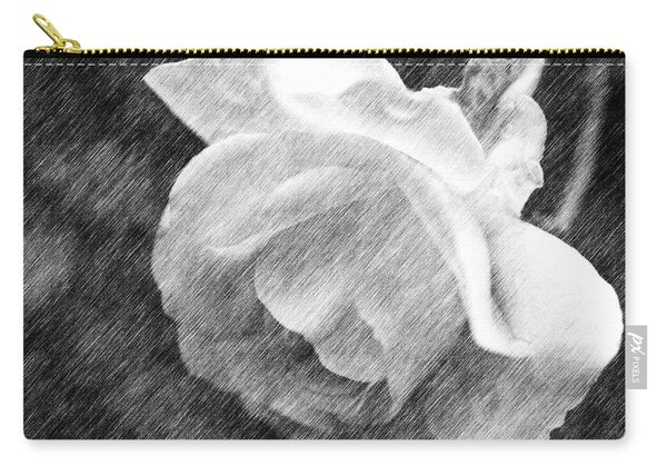 White Rose In Pencil Carry-all Pouch
