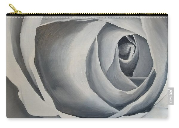 Carry-all Pouch featuring the painting White Rose by Kevin Daly