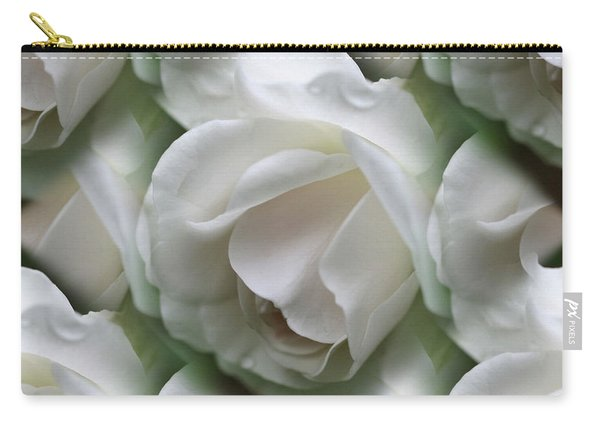 White Roses Carry-all Pouch