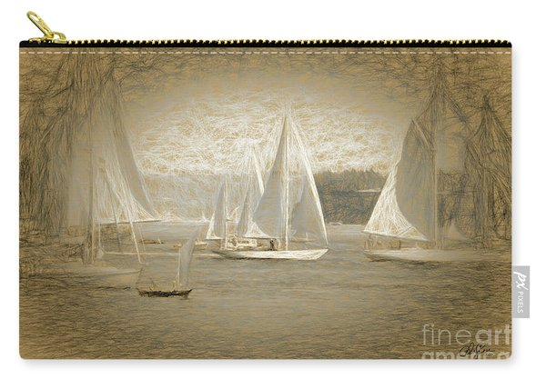 White Sails On Admiralty Inlet Carry-all Pouch