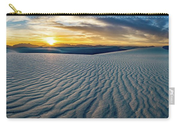 White Sands Sunset Panorama Carry-all Pouch